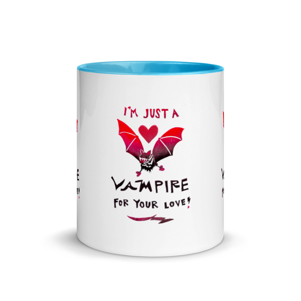 I'm Just A Vampire For Your Love Mug with Color Inside