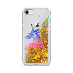 Happy Happy Joy Joy Donkey Pinata Liquid Glitter Phone Case