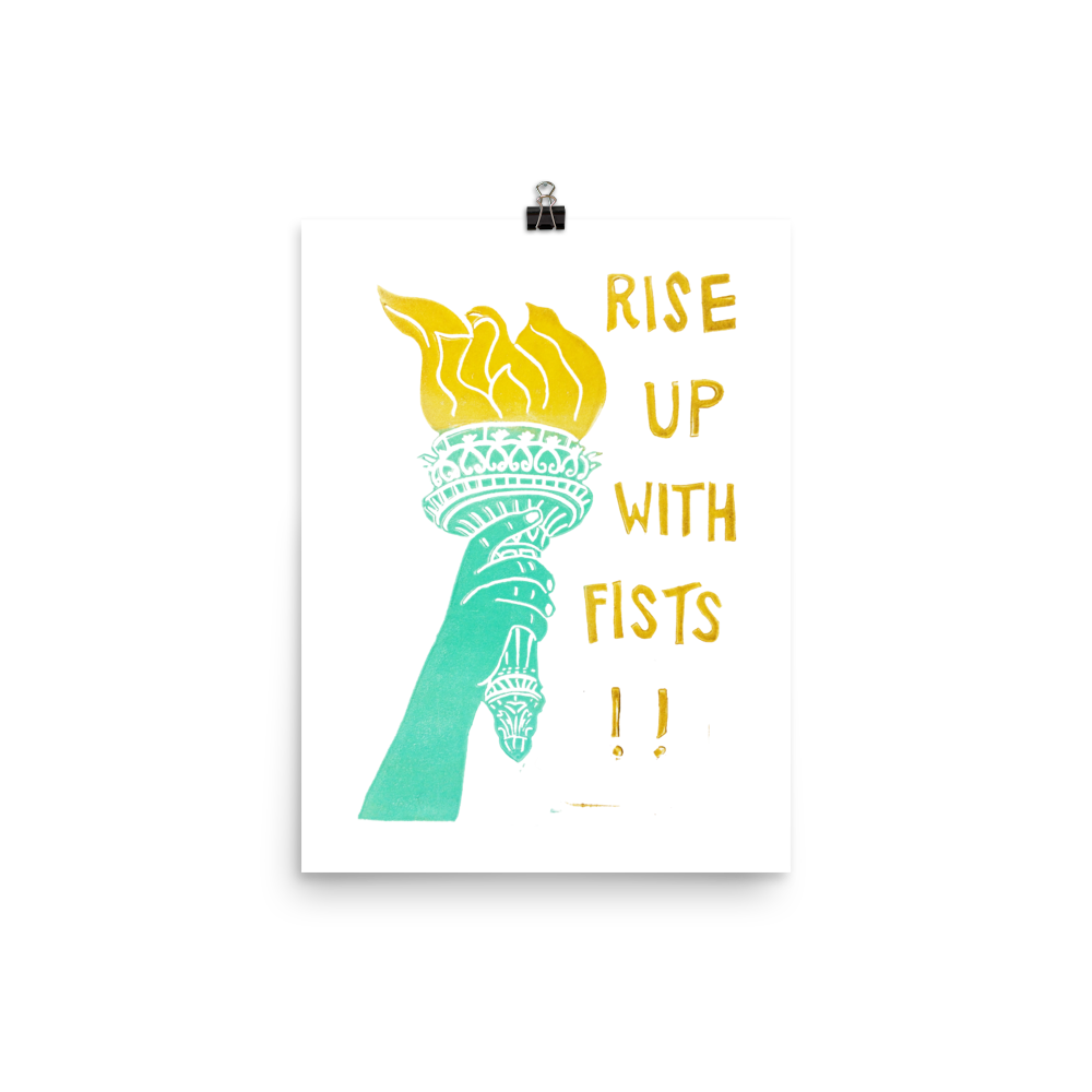Rise Up With Fists!! Art Prints