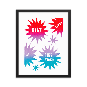 Baby You're A Firework Framed Art Prints