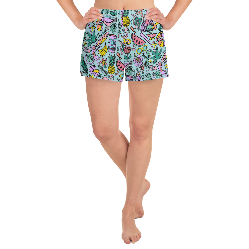 Tropical Fantasies Athletic Short Shorts