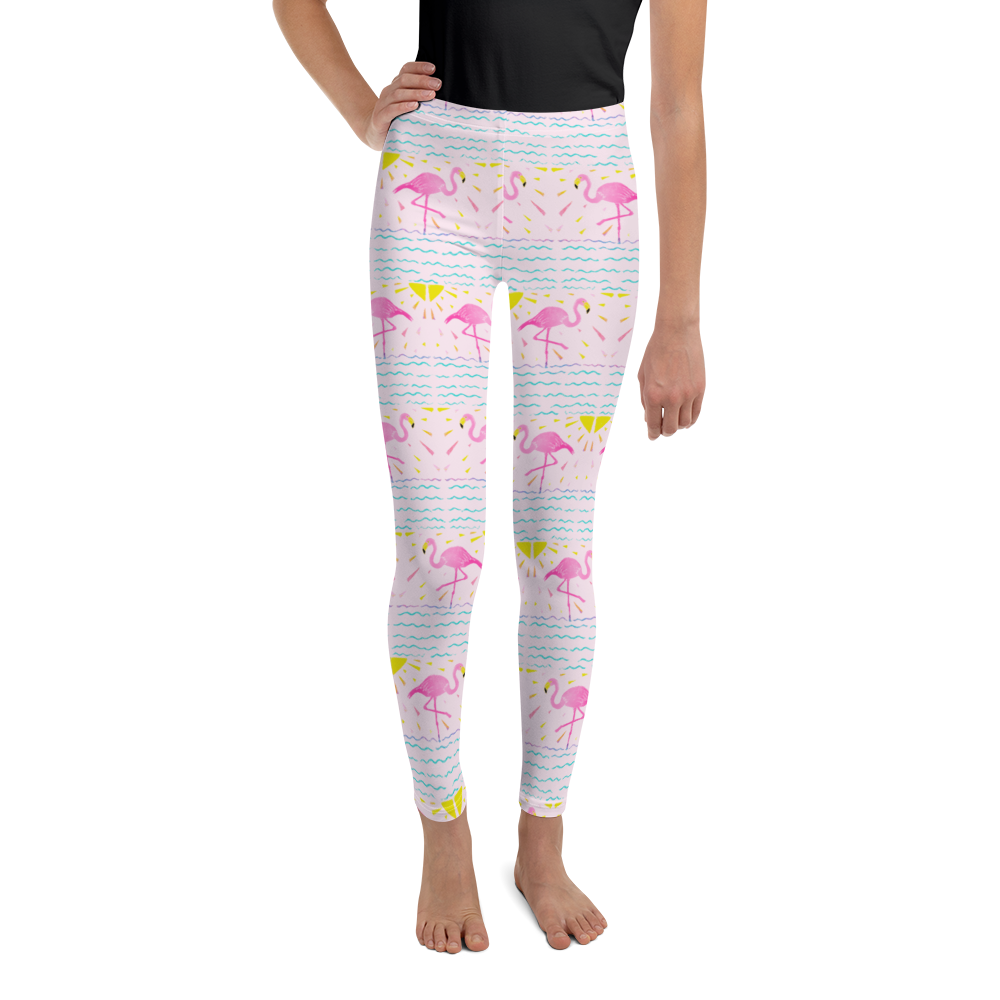Flamingo Rays Youth Leggings