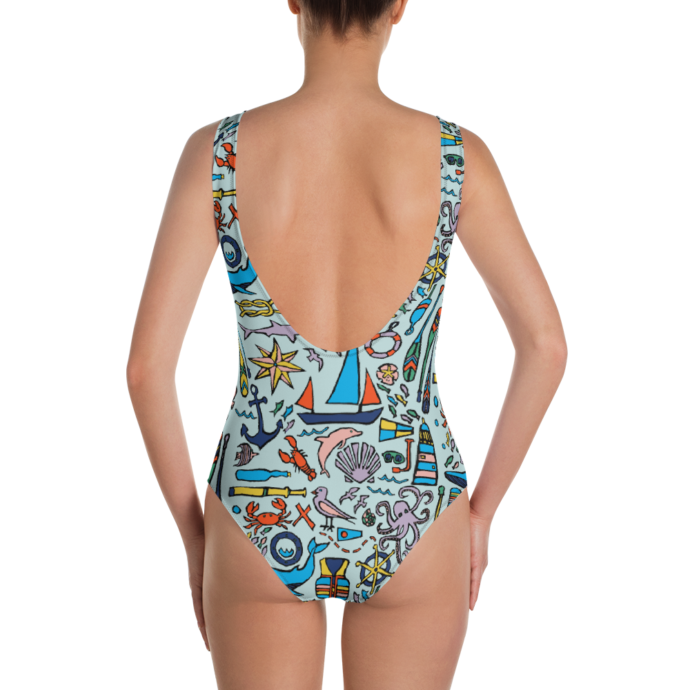 Nautical Drifts One-Piece Swimsuit