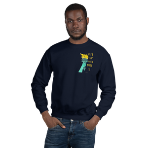 Rise Up With Fists!! Adult Sweatshirt