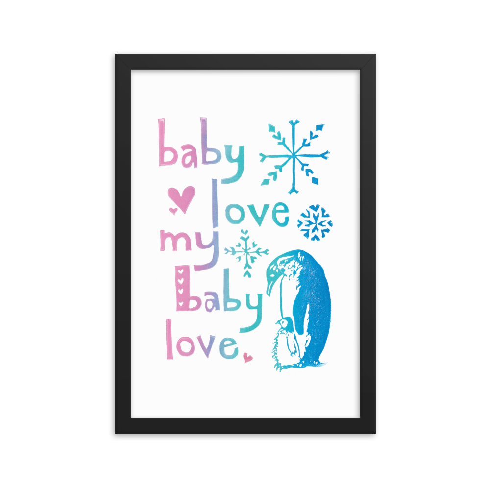 Baby Love My Baby Love Framed Art Print
