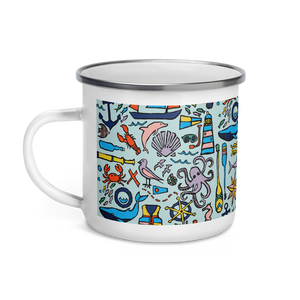 Nautical Drifts Enamel Camping Mug