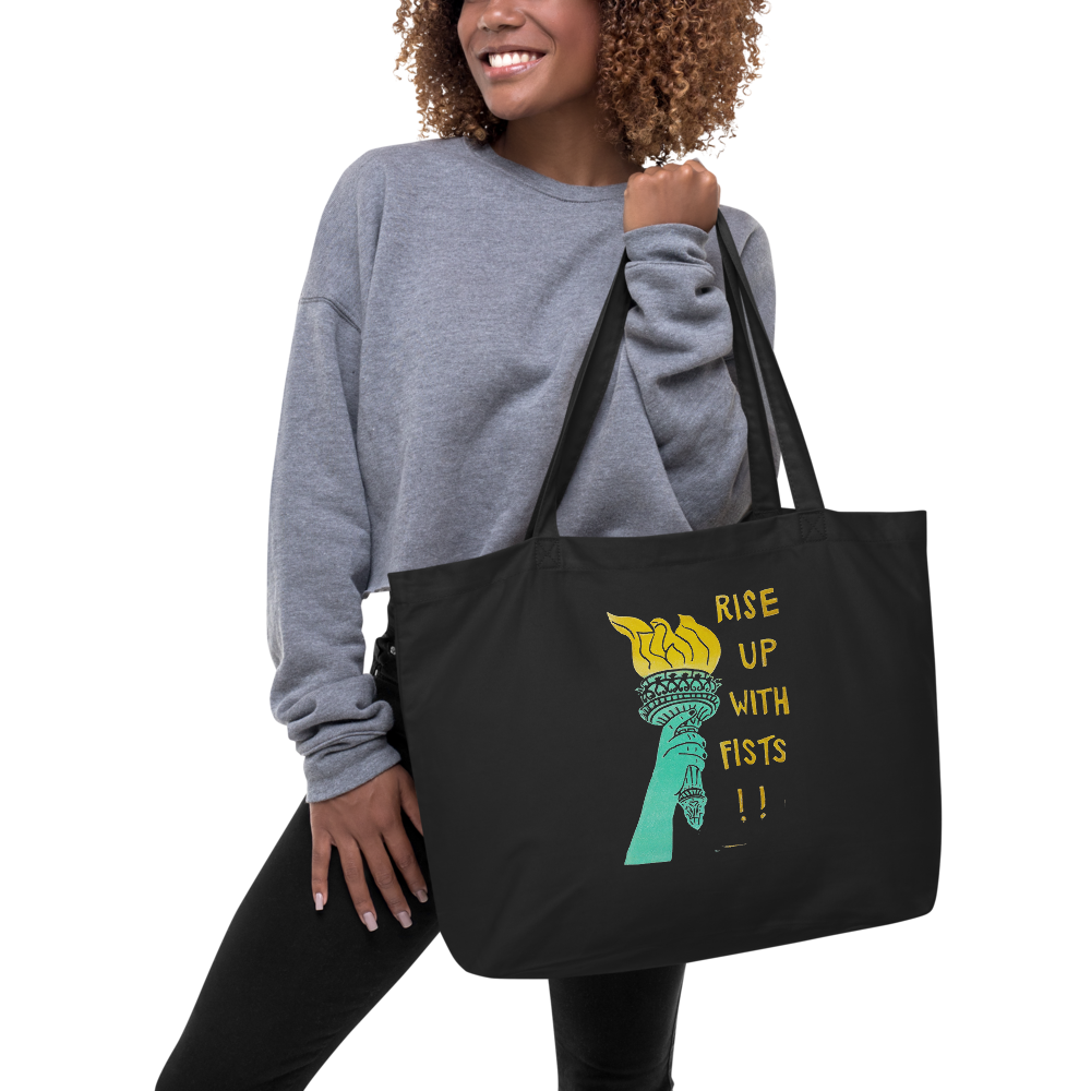 Rise Up With Fists!! Large Eco Tote Bag