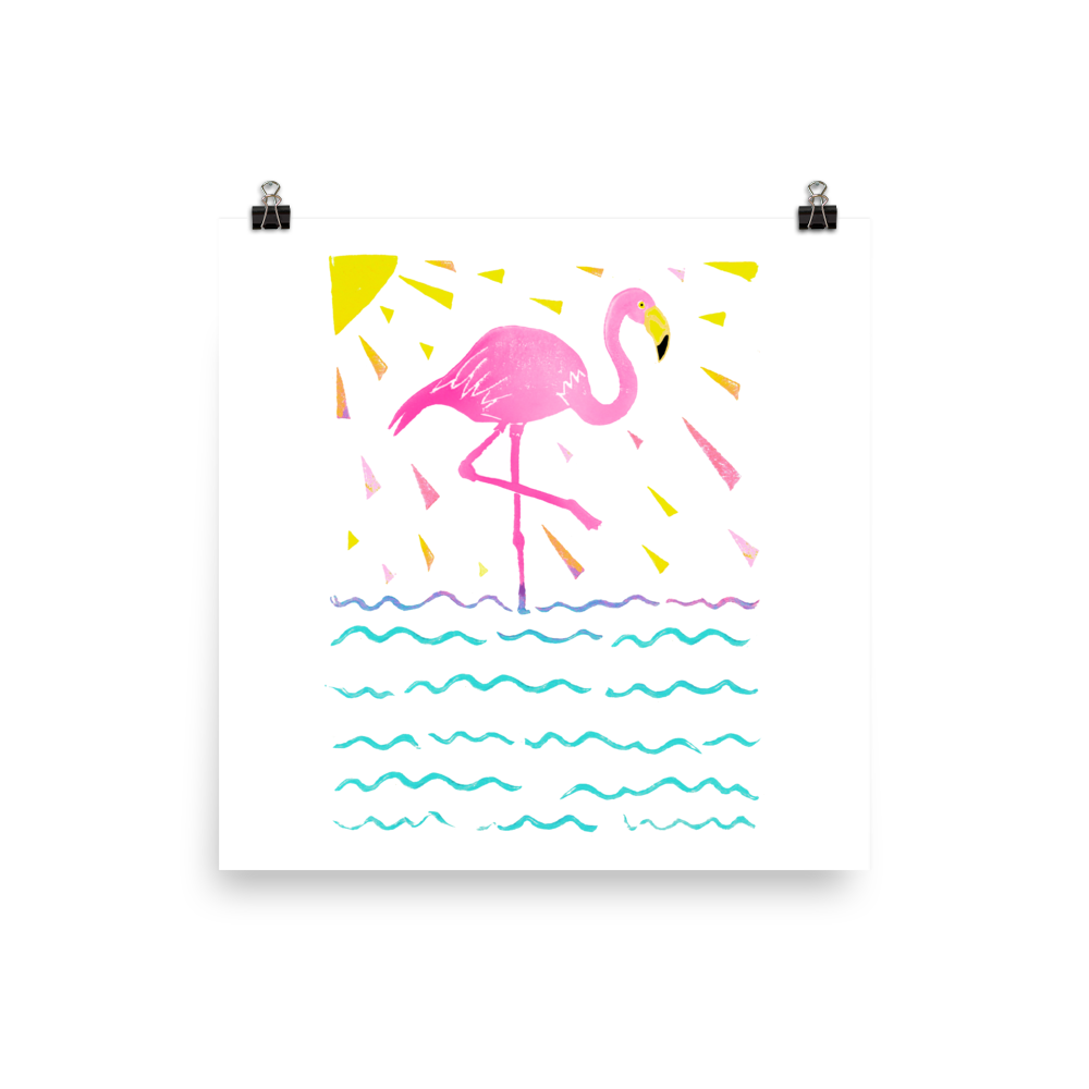 Flamingo Rays Art Prints