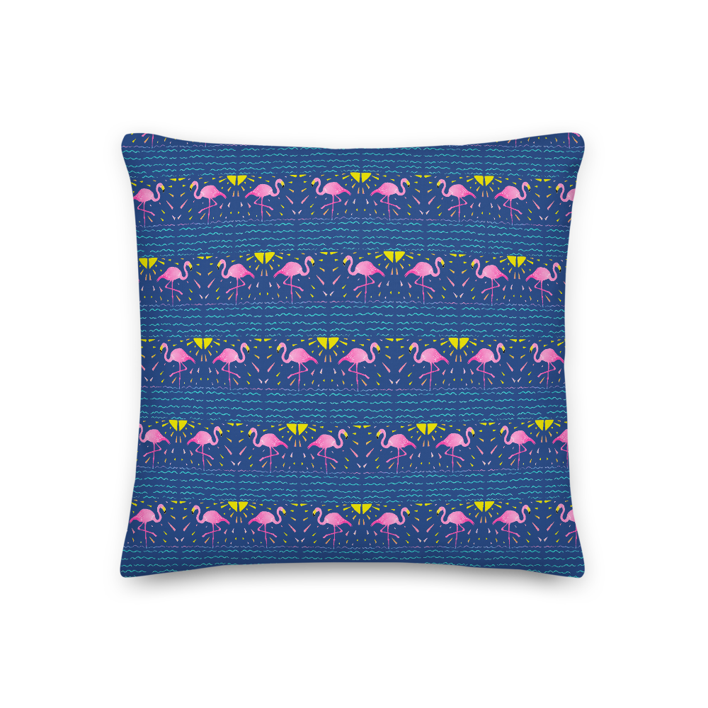 Flamingo Rays Premium Pillow