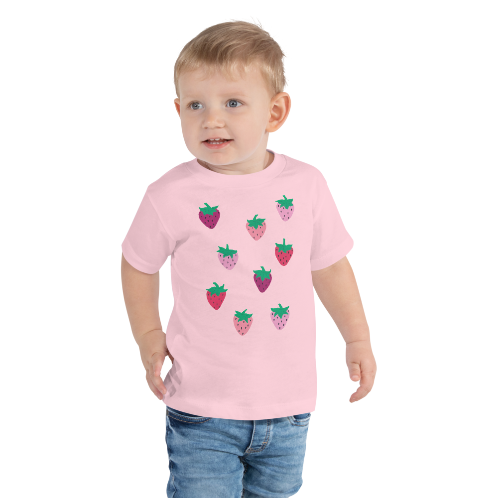Strawberry Patch Toddler Short Sleeve Tee