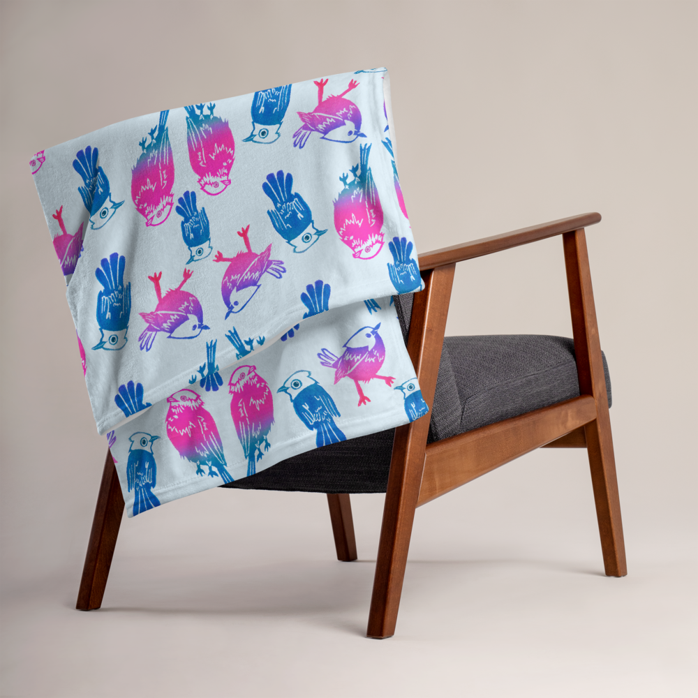 Three Little Birds Throw Blanket