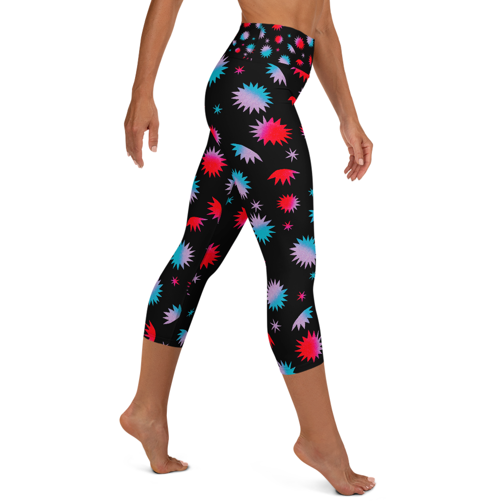 Own The Night Yoga Capri Leggings