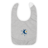 Moonshine Embroidered Baby Bib