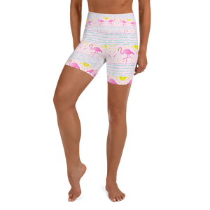 Flamingo Rays Yoga Shorts