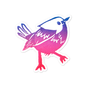 2nd Little Bird Bubble-free Stickers