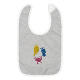 Three Little Birds Embroidered Bib