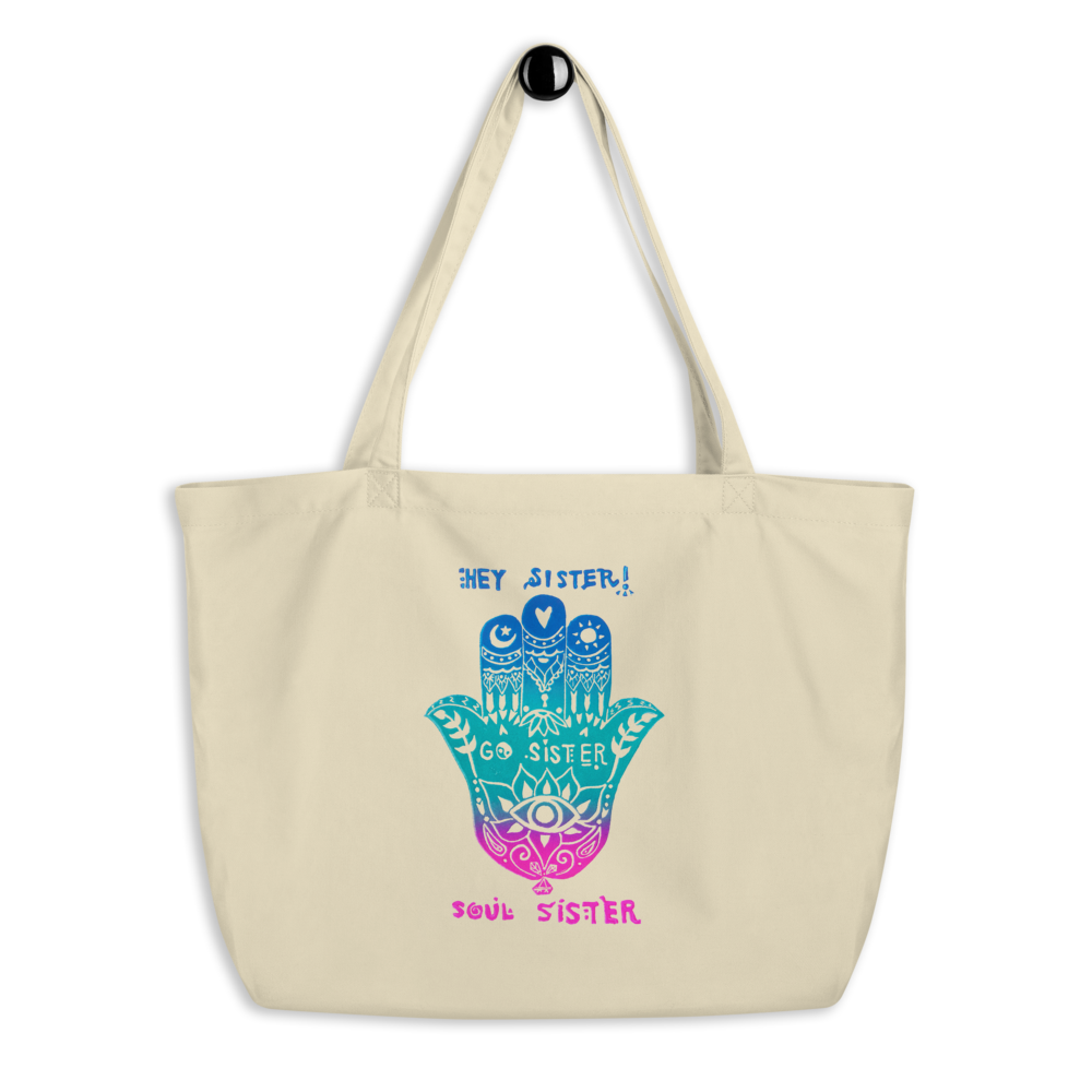Hey Sister Go Sister Soul Sister Large Eco Tote Bag