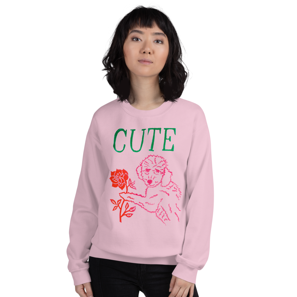 I Think You're Cute Adult Sweatshirt