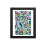 Tropical Fantasies Framed Art Prints