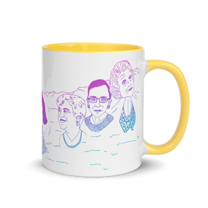 Mount Bushmore Mug with Color Inside