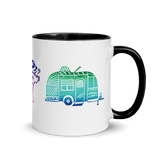 Rascal Raccoon & Airstream Dreams Mug with Color Inside