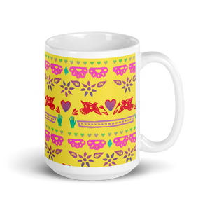 Handmade Love Papel Picado Mug