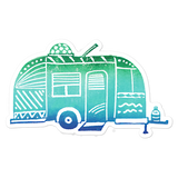 Airstream Dream Bubble-free Stickers