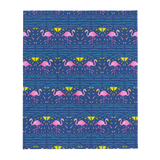 Moonlight Flamingo Rays Throw Blanket