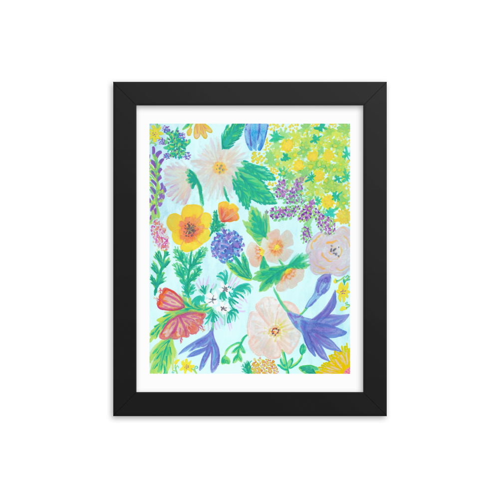 Garden for the Enlightenment Framed Art Print