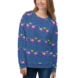 Moonlight Flamingo Rays Unisex Sweatshirt