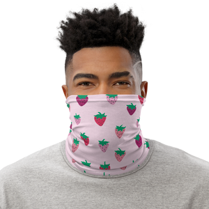 Pink Strawberry Patch Neck Gaiter