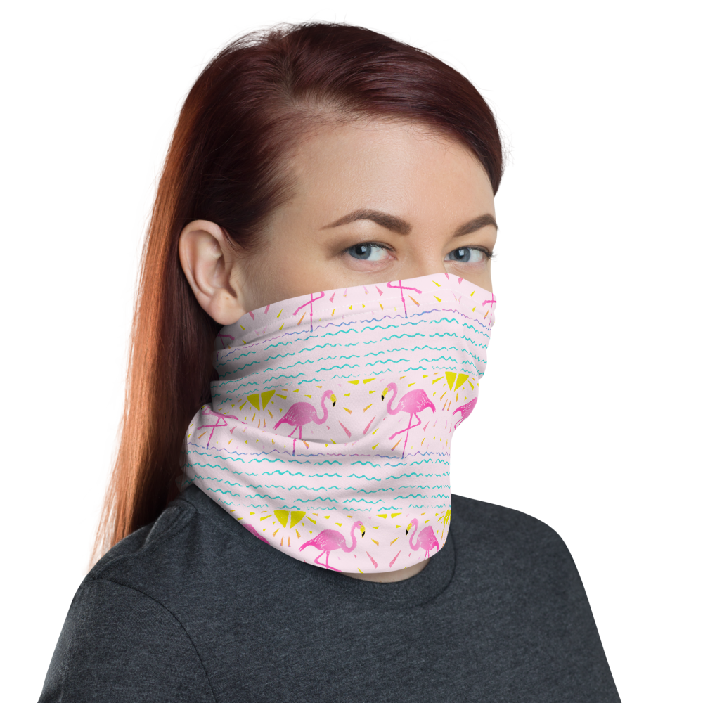 Flamingo Rays Neck Gaiter