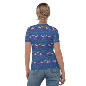 Moonlight Flamingo Rays Adult T-Shirt