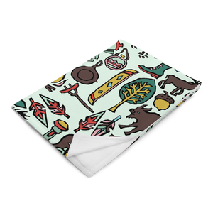 Whimsical Wilderness Throw Blanket