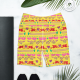 Handmade Love Papel Picado Yoga Shorts