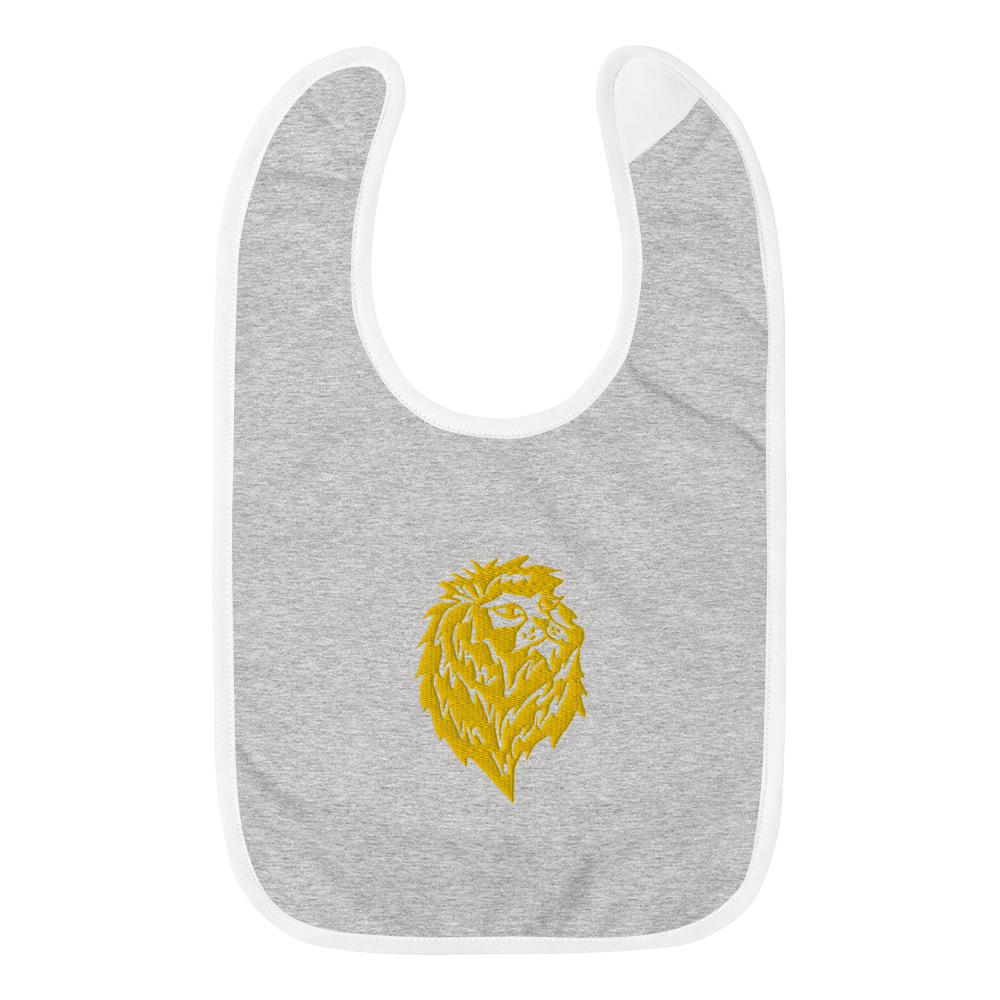 Lion Pride Embroidered Bib