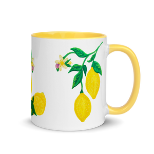 Citrus Blossom Mug with Color Inside