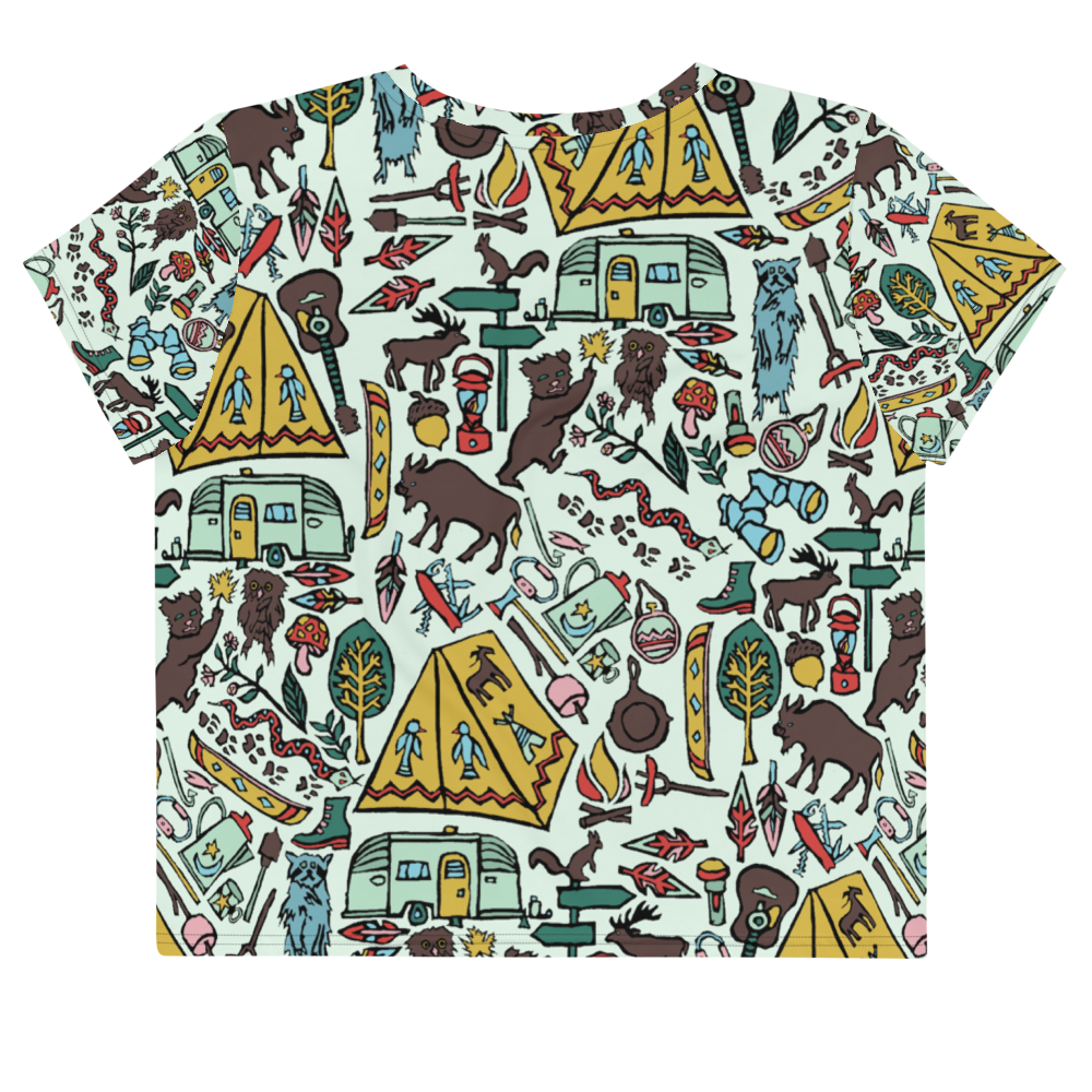Whimsical Wilderness Crop Tee