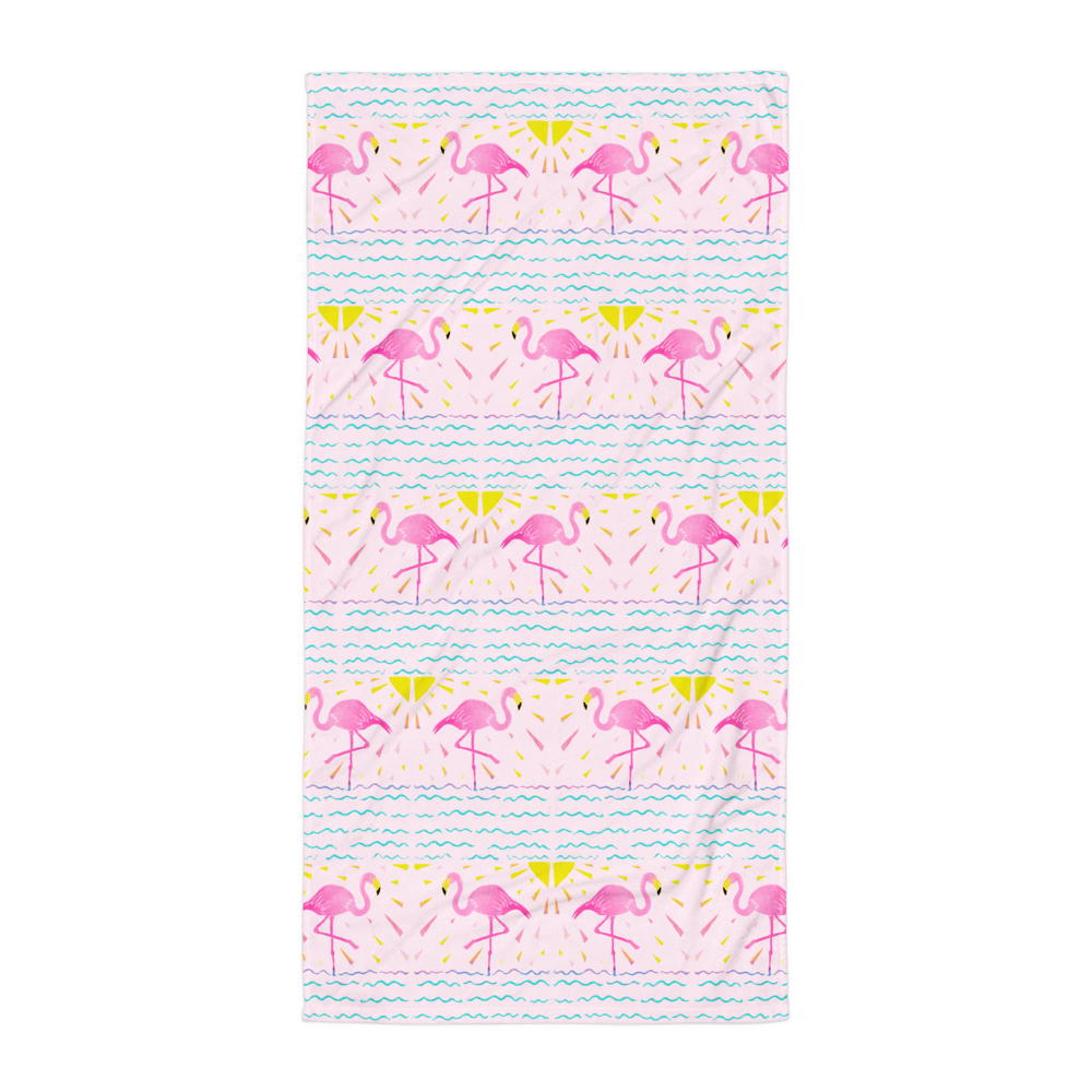 Flamingo Rays Towel