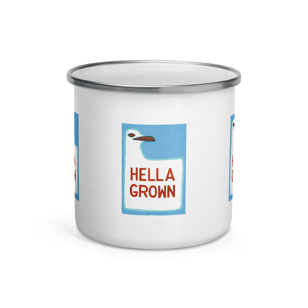 Hella Grown Enamel Mug
