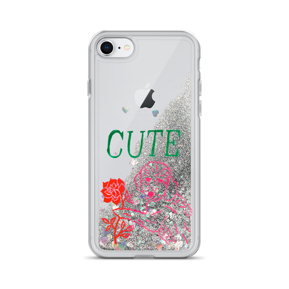 I Think You're Cute Liquid Glitter Phone Case