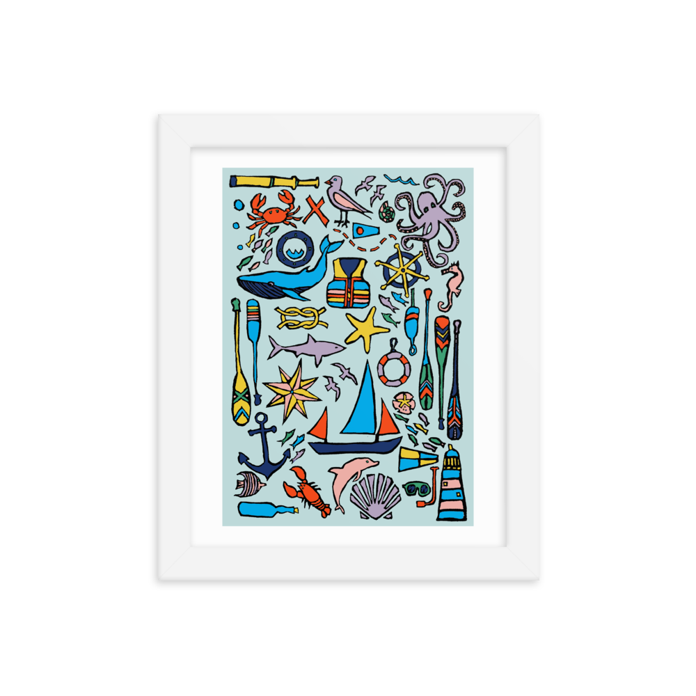 Nautical Drifts Framed Art Prints