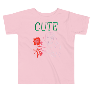 I Think You're Cute Toddler Short Sleeve Tee