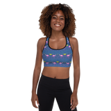 Moonlight Flamingo Rays Padded Sports Bra