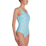 Hella Grown Highway Signs One-Piece Swimsuit