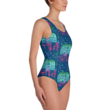 Rascal Raccoon & Airstream Dreams One-Piece Swimsuit