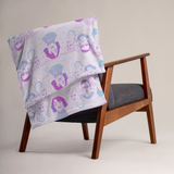 Mount Bushmore Throw Blanket