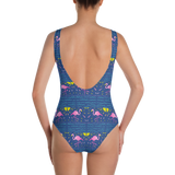Moonlight Flamingo Rays One-Piece Swimsuit