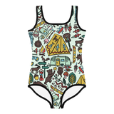 Whimsical Wilderness Kids Swimsuit