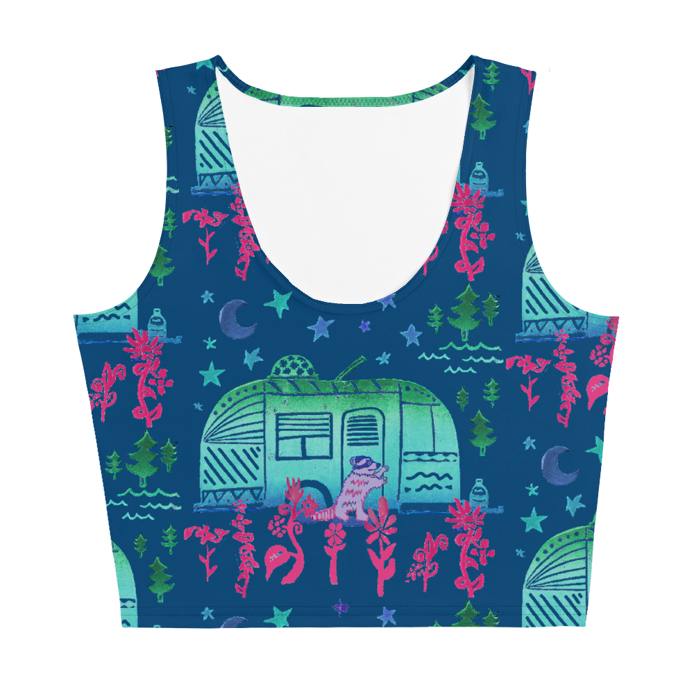 Rascal Raccoon & Airstream Dreams Crop Top